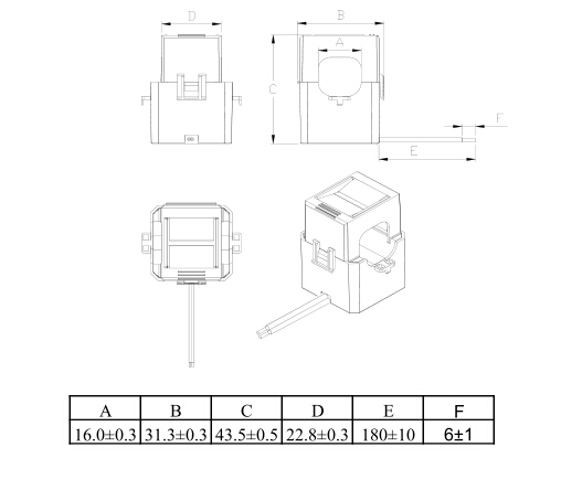 Clamp type current transformer CT313
